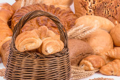 Still life of different kinds of bread Stock Photos