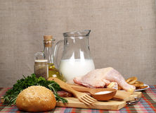 Still life from a different meal Royalty Free Stock Image