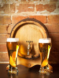 Still life with a draft beer Royalty Free Stock Images