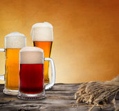 Still life with a draft beer Stock Images