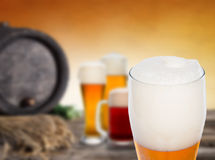 Still life with a draft beer Royalty Free Stock Photo