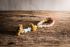 Still life of Dried flower garland in thai style Royalty Free Stock Images