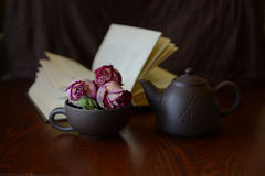 Still Life with dry roses Royalty Free Stock Photography