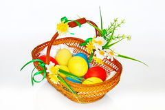 Still-life with Easter basket. Still on the theme of Easter Royalty Free Stock Photography
