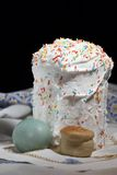 Still-life about an easter cake. Egg and host Royalty Free Stock Photos