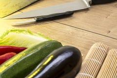 Still life with eggplant, zucchini Royalty Free Stock Photo