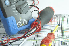 Still Life Of Electrical Components Royalty Free Stock Images