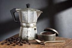 Still life, espresso maker Stock Photography