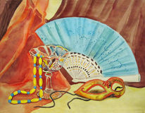 Still life with fan Stock Images