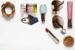 Still life of fashion woman. Feminine fashion cosmetic Royalty Free Stock Photos