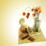 Still-life on a female table. Royalty Free Stock Images