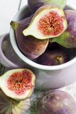 Still life with figs in cup Royalty Free Stock Photos