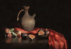 Still life with figs Royalty Free Stock Image