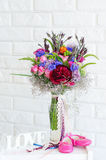 Still life with flower bouquet Stock Images