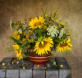 Still life with flowers stock photo