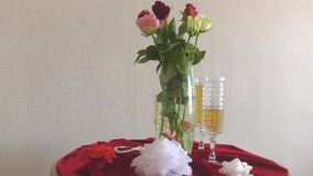 Still life with roses stock video