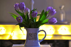 Still life flowers. Still life tulip flowers bokeh Stock Image
