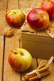 Still life with fresh apples Royalty Free Stock Image