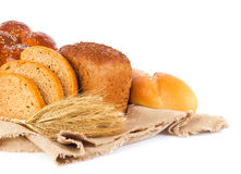 Still life of fresh baked goods and ear Stock Photo