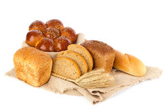 Still life of fresh baked goods and ear, Royalty Free Stock Photo