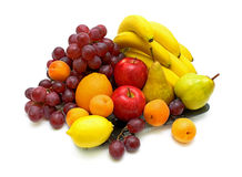 Still life of fresh fruit. On a white background Stock Images