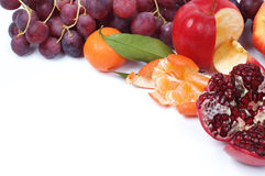 Still life of fresh fruits. Fresh fruits on the light background for some frame Stock Image