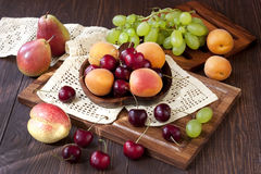 Still life with fresh fruits Stock Photography