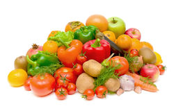 Still life of fresh fruits and vegetables Royalty Free Stock Images