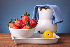 Still life with fresh fruits Royalty Free Stock Photos