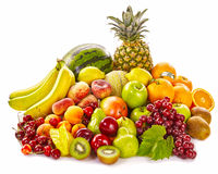 Still life of fresh healthy tropical fruit Stock Photo