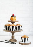 Still life with fresh muffins on the table Royalty Free Stock Photography