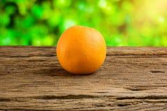 Still Life Fresh Orange Fruit on Vintage grunge Wooden Table Stock Image