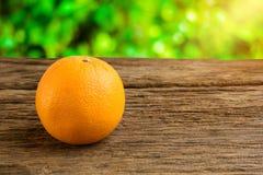 Still Life Fresh Orange Fruit on Vintage grunge Wooden Table Stock Images