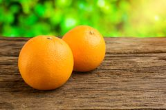 Still Life Fresh Orange Fruit on Vintage grunge Wooden Table Stock Photo