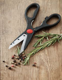 Still life with fresh rosemary and scissors Royalty Free Stock Images
