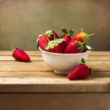 Still life with fresh strawberries Royalty Free Stock Images