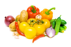 Still life of fresh vegetables Royalty Free Stock Photos
