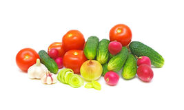 Still Life. fresh vegetables on white background. Still Life. fresh and ripe vegetables on white background Royalty Free Stock Photography