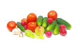 Still Life. fresh vegetables on white background. Royalty Free Stock Photography
