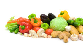 Still life. fresh vegetables on a white background. Stock Images