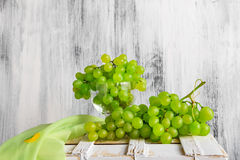 Still life fruit bottlle wine grapes Stock Photos