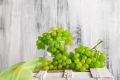 Still life fruit bottlle wine grapes Stock Photos