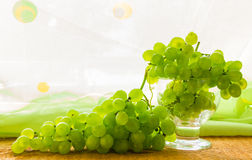 Still life fruit bottlle wine grapes Royalty Free Stock Photo