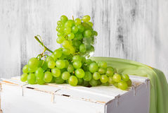 Still life fruit bottlle wine grapes Royalty Free Stock Image