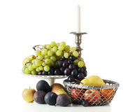 Still-life with fruit isolated Royalty Free Stock Photo