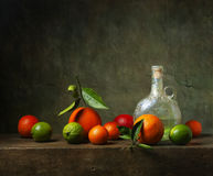 Still life with fruit and jug. Still life with citrus fruit and jug Royalty Free Stock Image