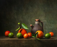 Still life with fruit and jug Royalty Free Stock Photos