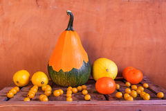 Still Life Fruit late years wooden crate Royalty Free Stock Photography