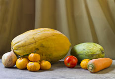 Still life with fruit and vegetables Royalty Free Stock Images