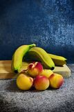 Still life with fruits. Still life with bananas Stock Images